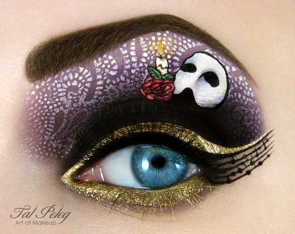 Tal Peleg oči a makeup