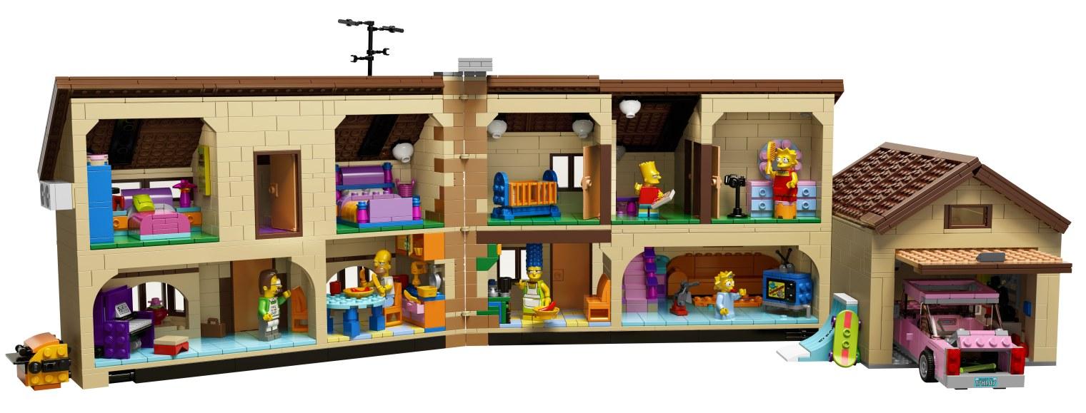 LEGO Simpsonovci, obrázok domu a postáv