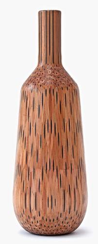 Umenie, ceruzková váza drevo a grafit