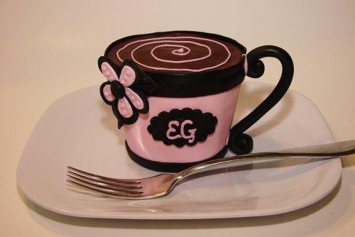 inšpirácie torty a zákusky v tvare šálky a pohárov