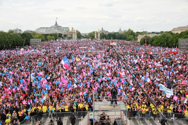 Protest za rodinu Francúzsko