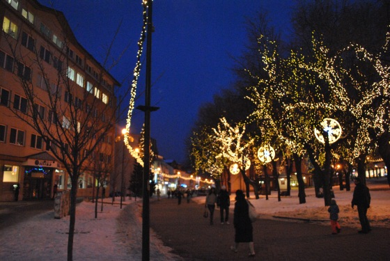 Vianočná výzdoba mesta Poprad