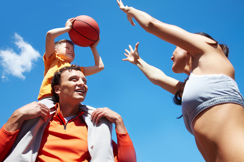 Basketball rodina šport