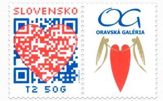 Valentínska známka QR