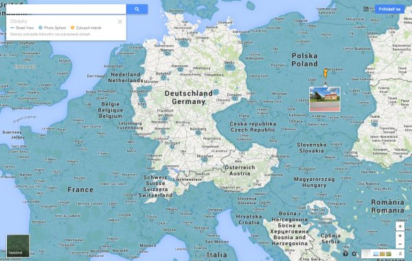 Mapa Google Street View