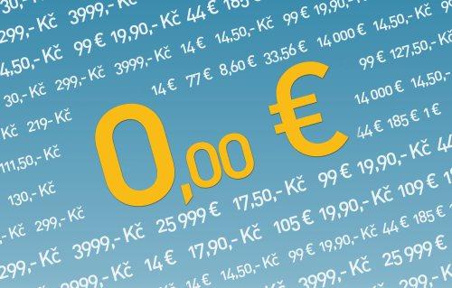 Zadarmo free nula eur, licencia