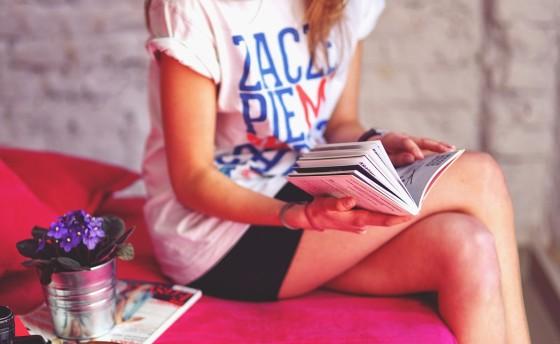 Kníhkupectvo, čítanie kníh