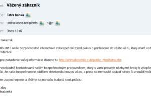 Tatra banka podvod