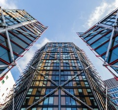 Immense towers and a federalised Britain: James Fletcher's vision of the future. Photograph: Alec Boreham Architecture / Alam/Alamy