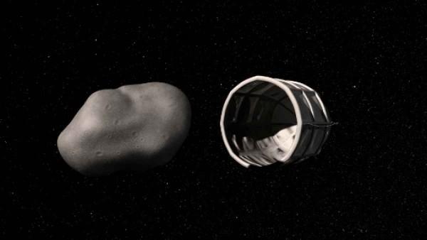 Malé asteroidy môžu byť zachytené špeciálnou vesmírnou loďou s cieľom ťažby vody a minerálov. Zdroj: Planetary Resources Inc.