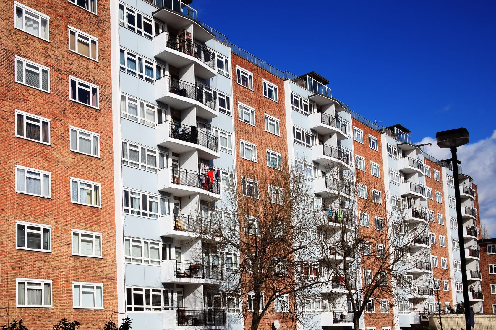 12768442 - public council housing apartments in london, england, uk