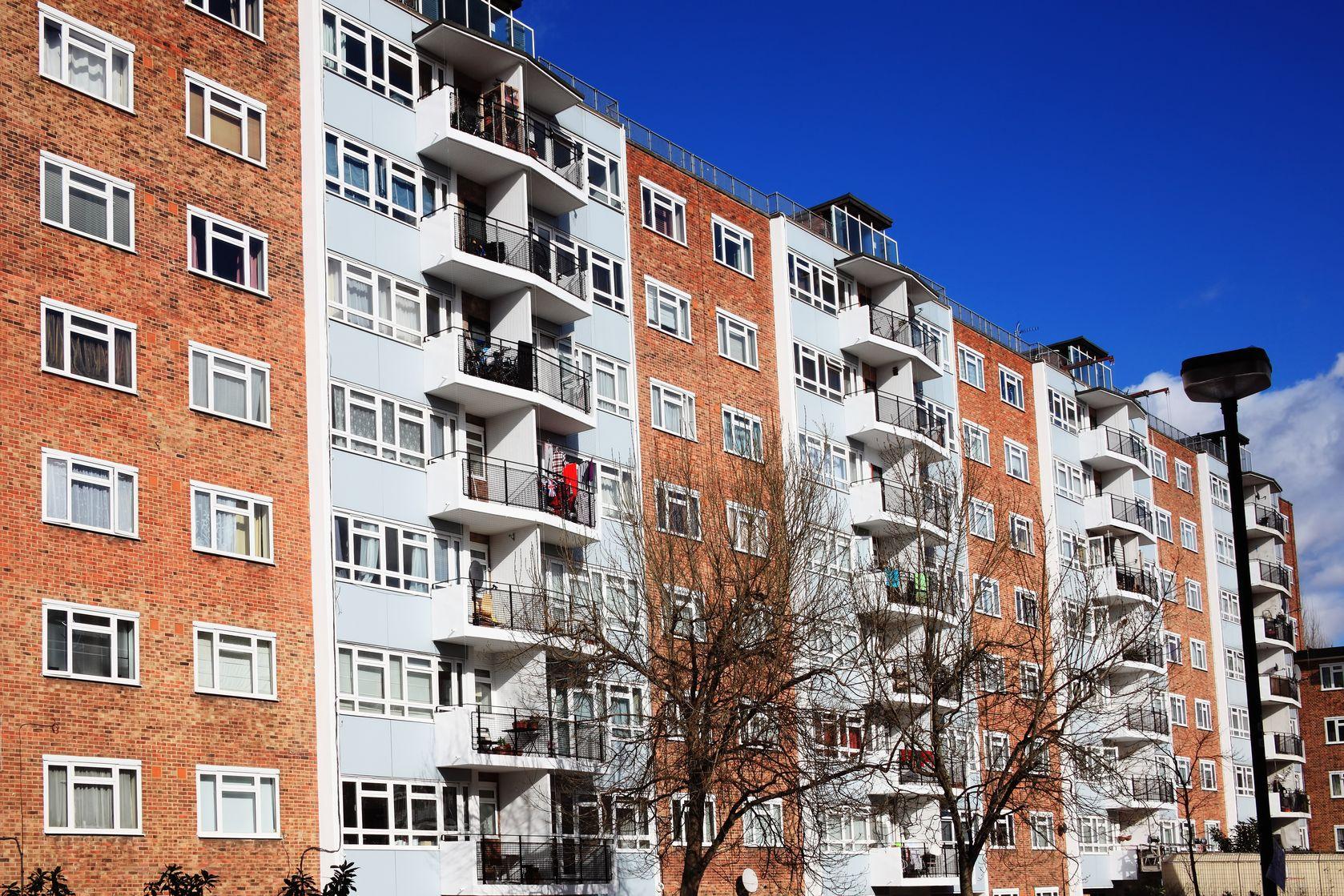 12768442 - public council housing apartments in london, england, uk