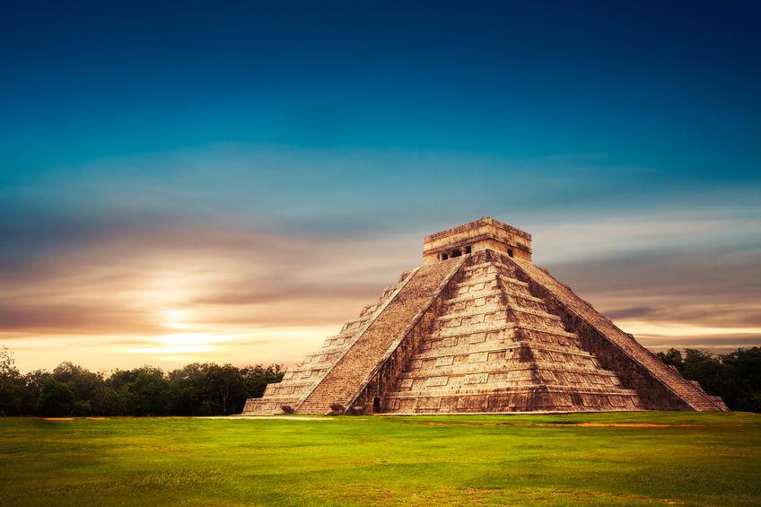 44368891 - temple of kukulkan, pyramid in chichen itza, yucatan, mexico