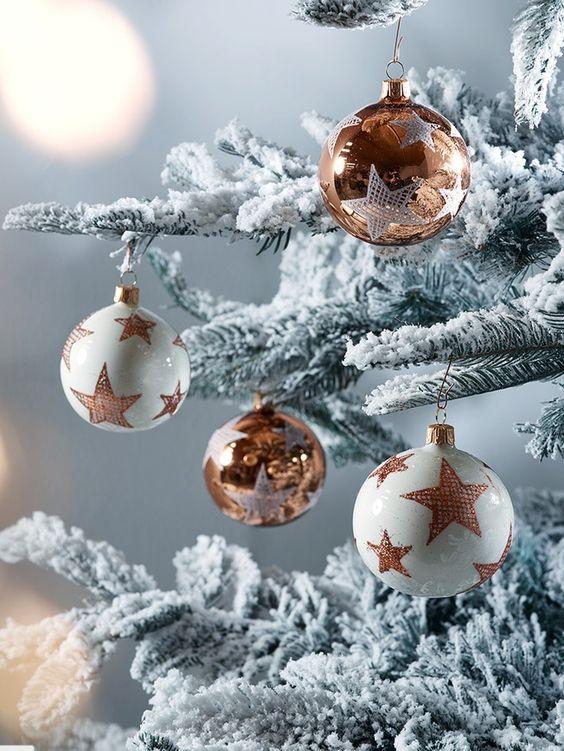 Žiarivé vianočné gule