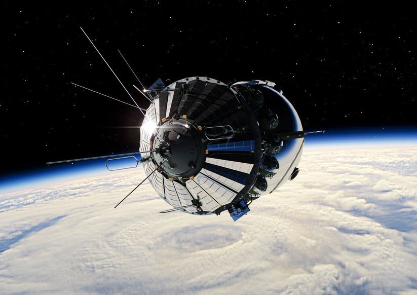12870344 - the first spaceship at the earth orbit