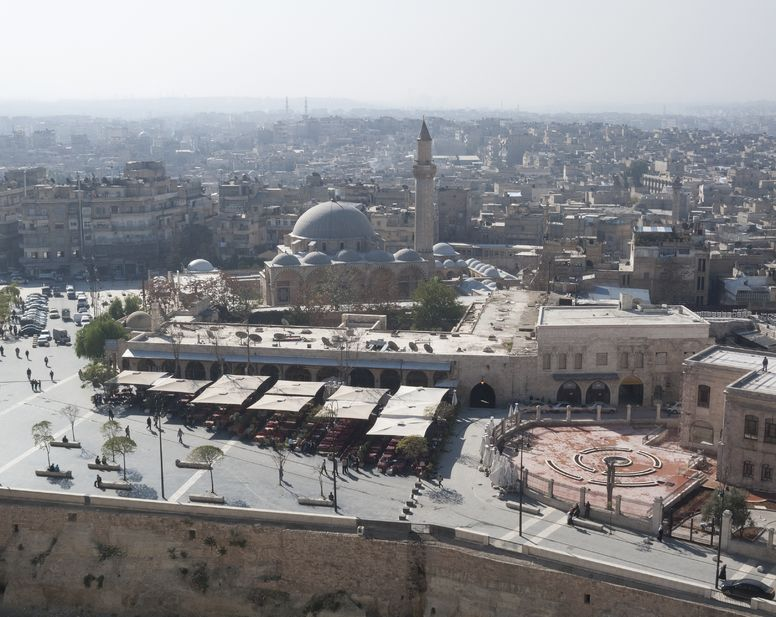 18558381 - view of aleppo syria from citadel
