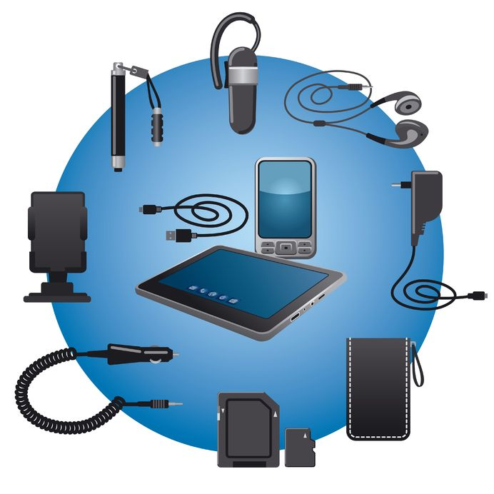 19481467 - mobile devices accessories icon set