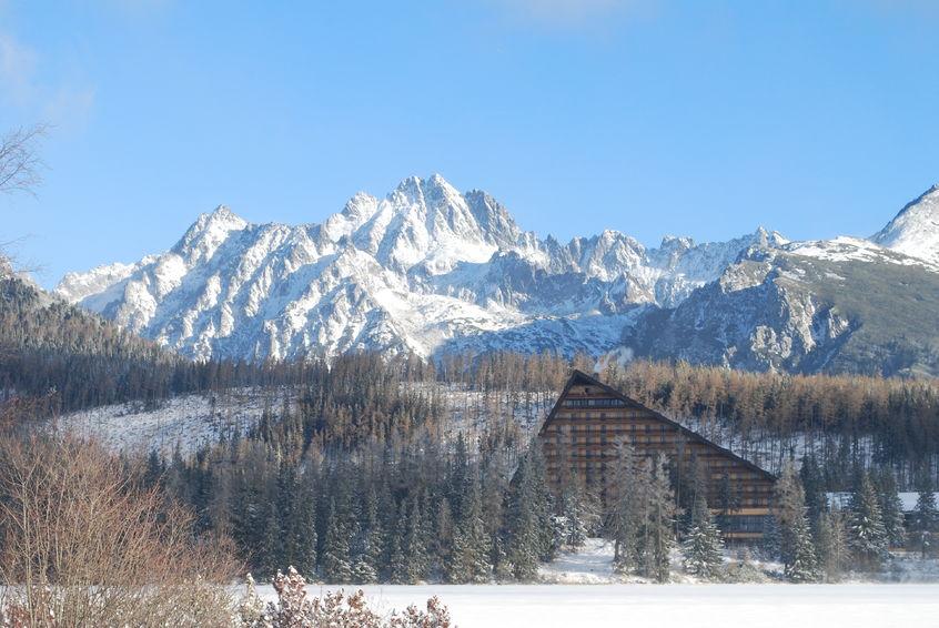 44391264 - mountains - high tatras, slovakia, strbske pleso, hotel patria