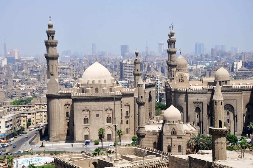 13163659 - landmark of the famous ancient castle in cairo,egypt