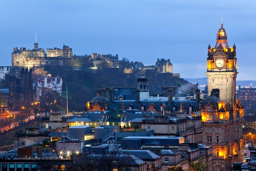 14882431 - edinburgh castle with cityscape from calton hill at dusk scotland uk