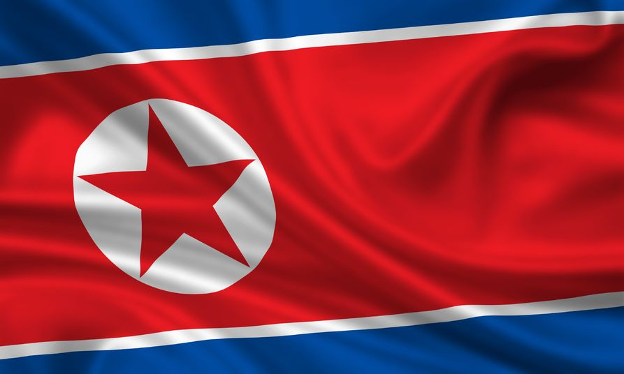 15251117 - waving flag of north korea