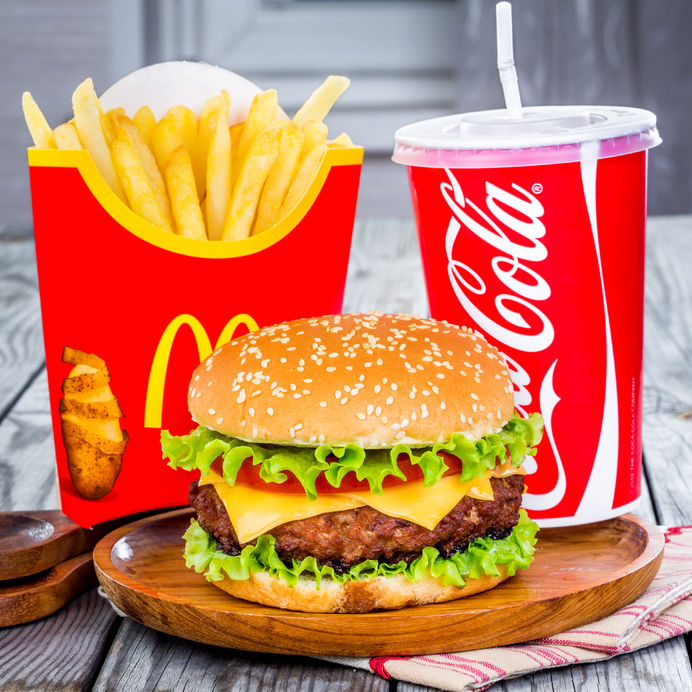 32416936 - moscow, russia-october 6, 2014: mcdonald's food. mcdonald's corporation is the world's largest chain of hamburger fast food restaurants, serving around 68 million customers daily in 119 countries