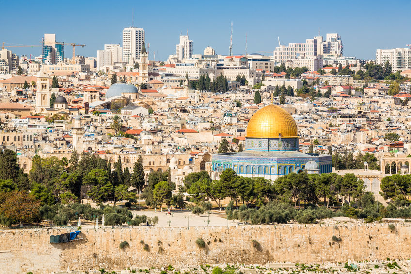 50757975 - skyline of the old city at temple mount in jerusalem, israel, middle east
