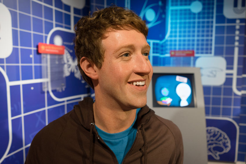 56689254 - bangkok, thailand - circa august, 2015: wax figure of the famous mark zuckerberg from madame tussauds, siam discovery, bangkok