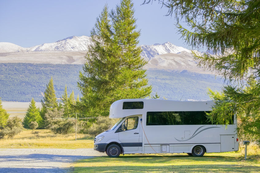 48888253 - caravan travel at south islands, new zeland