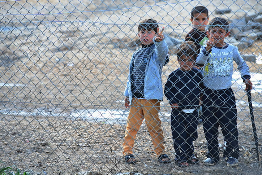 53737621 - syrian people in refugee camp in suruc. these people are refugees from kobane and escaped because of islamic state attack. 30.3.2015, suruc, turkey