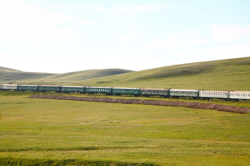 64064077 - trans-siberian railway from beijing china to ulaanbaatar mongolia