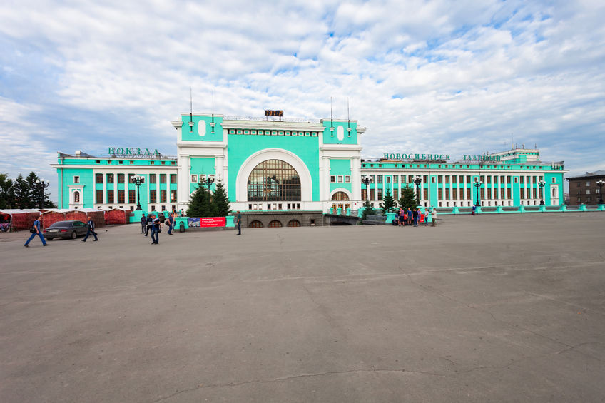 65675496 - novosibirsk, russia - july 04, 2016: novosibirsk trans-siberian railway station in russia. novosibirsk is the third most populous city in russia.