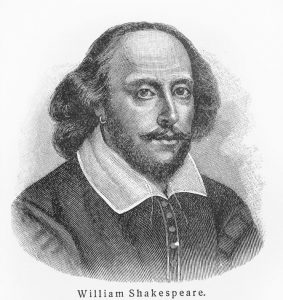 11259828 - william shakespeare - picture from meyers lexicon books written in german language. collection of 21 volumes published between 1905 and 1909.