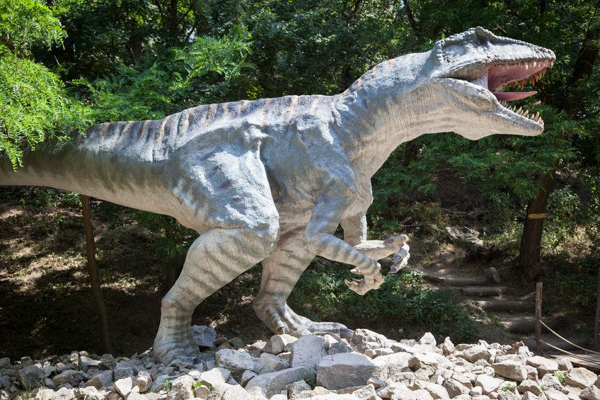 29741222 - bratislava, slovakia - jun 28: realistic model of dinosaur gigantosaurus at dinopark on jun 28, 2014 in bratislava