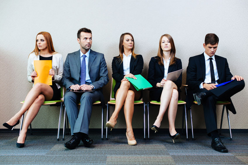 53953792 - business people waiting for job interview