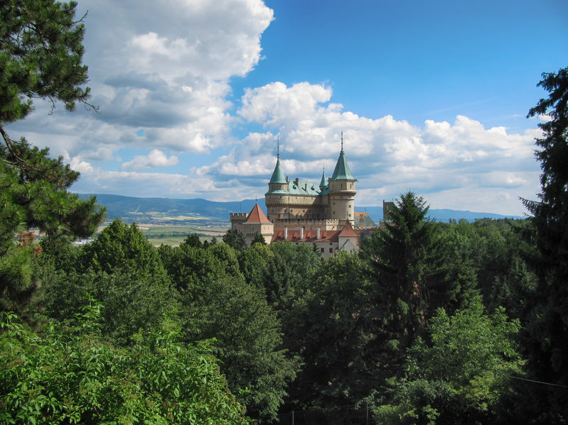 58498353 - bojnice, slovakia - july 6, 2011: beautiful bojnice castle view from the zoo