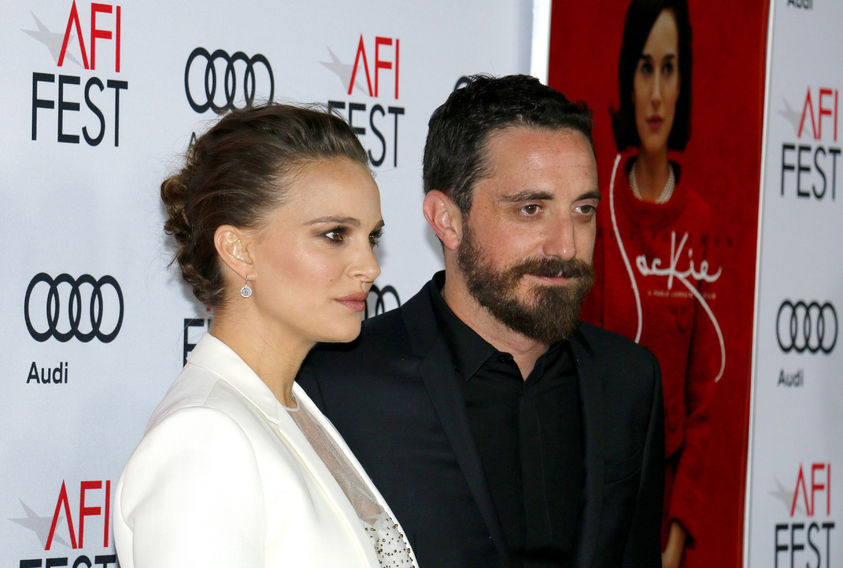 65673230 - pablo larrain and natalie portman at the afi fest 2016 centerpiece gala screening of 'jackie' held at the tcl chinese theatre in hollywood, usa on november 14, 2016.