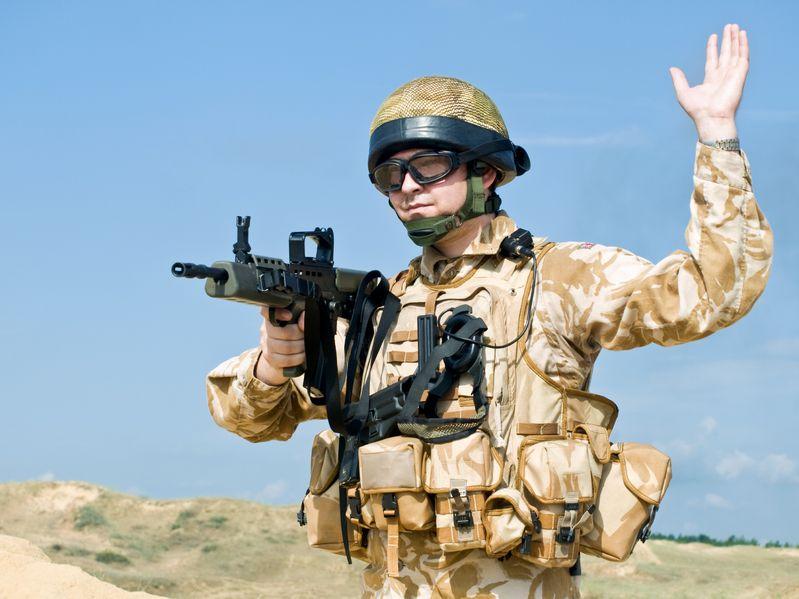 7856846 - british royal commando in action
