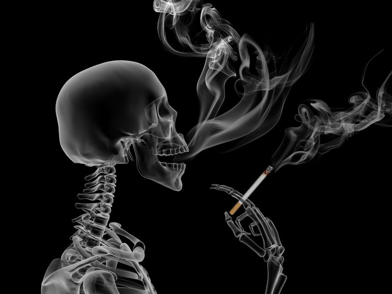 10704712 - conceptual 3d render the effects of nicotine smoking
