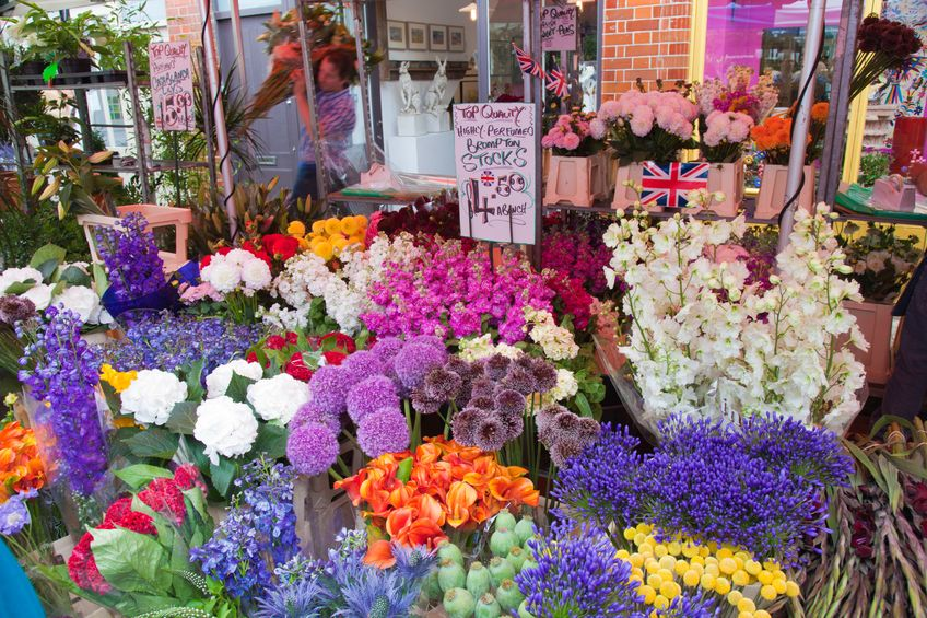 14938646 - columbia road flower market, london, uk