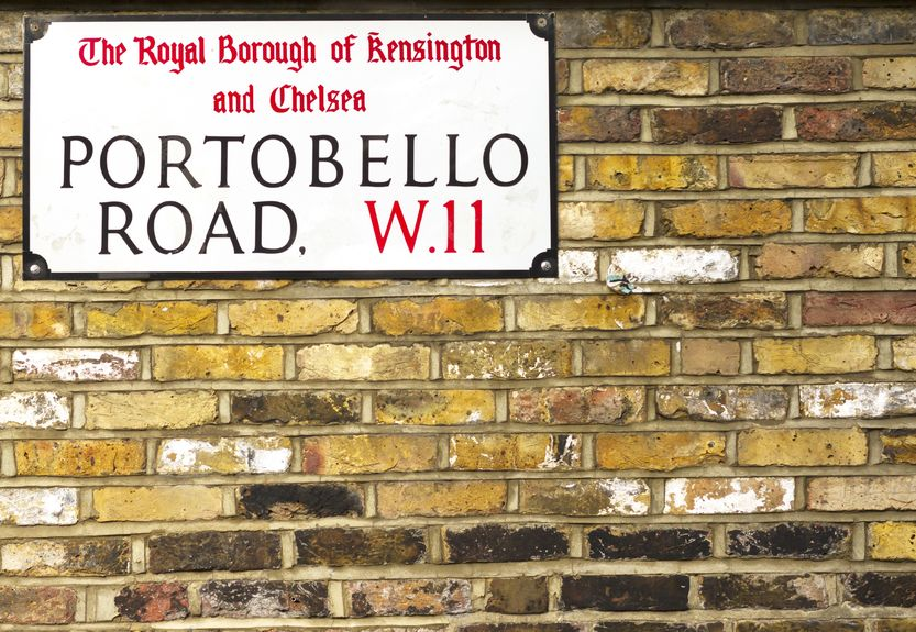 17630099 - portobello road sign in notting hill london