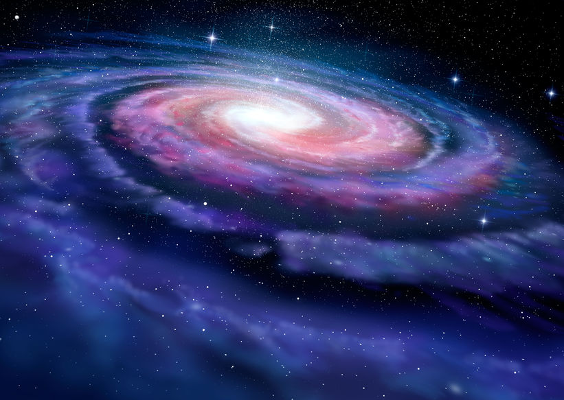 41248553 - spiral galaxy illustration of milky way