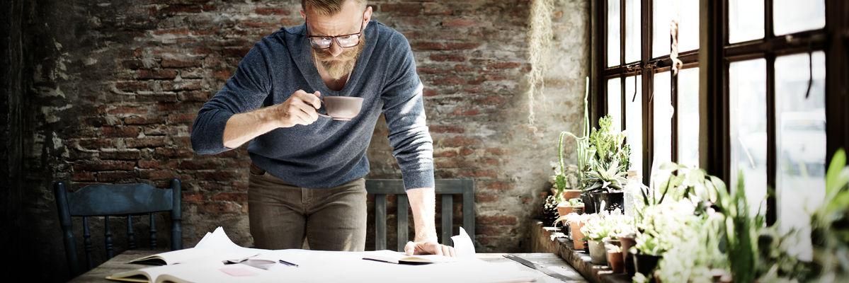 51615355 - man working home office start up ideas concept
