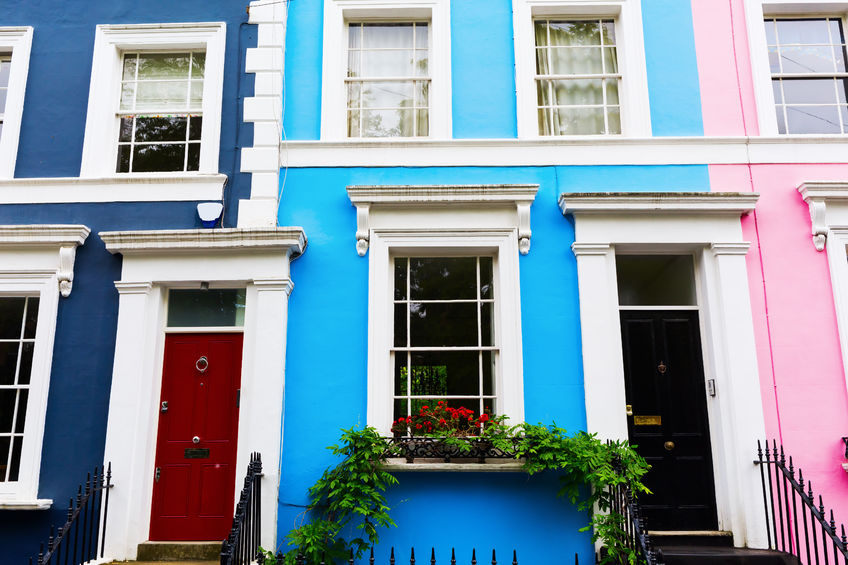 59780628 - colorful typical row houses in notting hill, london, uk