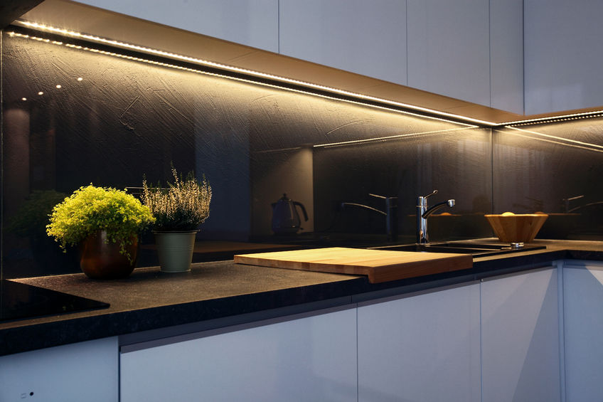 51167417 - detail of interior - modern kitchen tabletop and ceramic stove