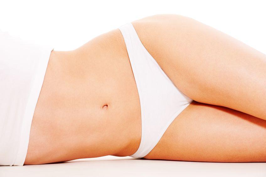 9268024 - beautiful woman's body in white underwear