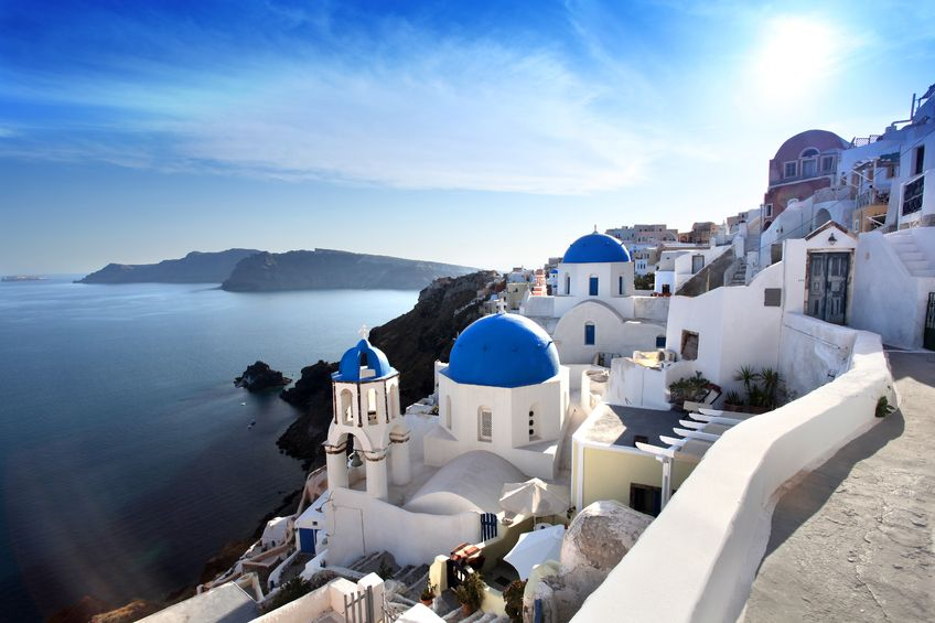 13961462 - amazing santorini with churches and sea view in greece