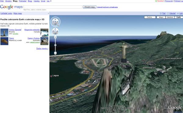 Google maps 3D - Rio de janeiro Jesus