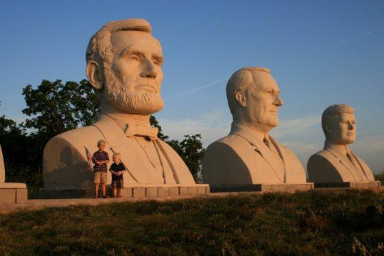 David Adickes sochy prezidentov
