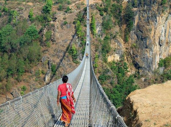 Visutý most Nepál
